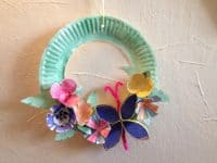 Paper Plate Wreath: Christmas, Woo Hoo! Oops, I Mean Yay, Thanksgiving!