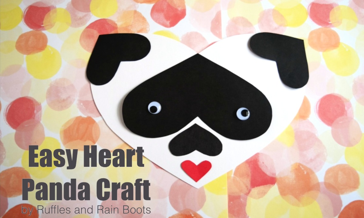 Adorable heart crafts for Valentines Day - heart craft panda