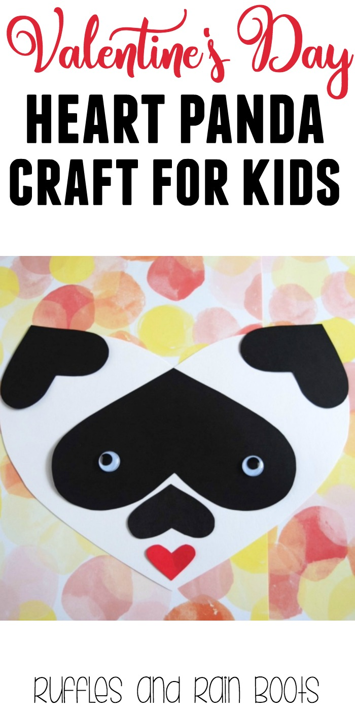 Adorable heart crafts for Valentines Day - heart craft panda #valentinesday #valentine #valentinesdaycrafts #valentinecrafts
