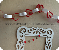 Paper Chain Garland and A Toddler Craft Monster!