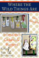Where the Wild Things Are – Free Printable and Interactive Play Garland!