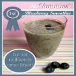 Healthy Blueberry Smoothie for kids, RufflesAndRainBoots.com