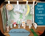 free printable, woodland animal puppets, finger puppets