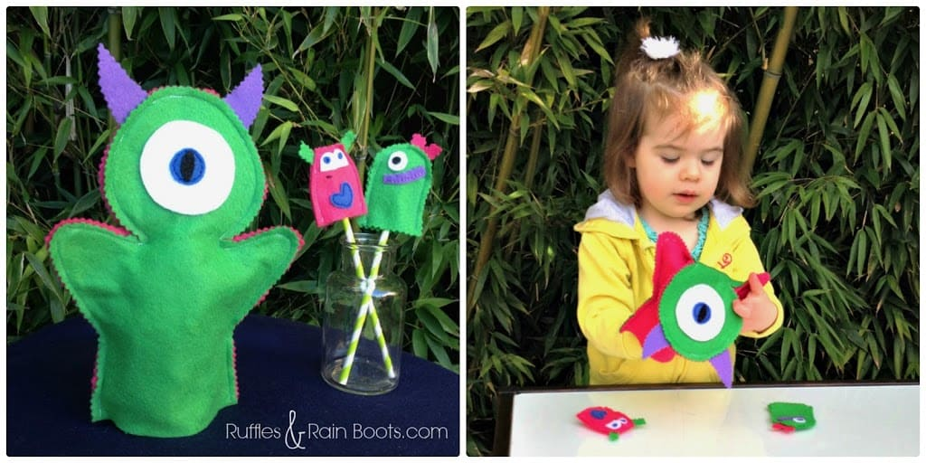 From Ruffles And Rain Boots: Monster theme, free printable, food for kids, monster books, monster puppets, monster crafts