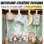 From Ruffles And Rain Boots: woodland creatures, rainy day craft, finger puppets, free printable