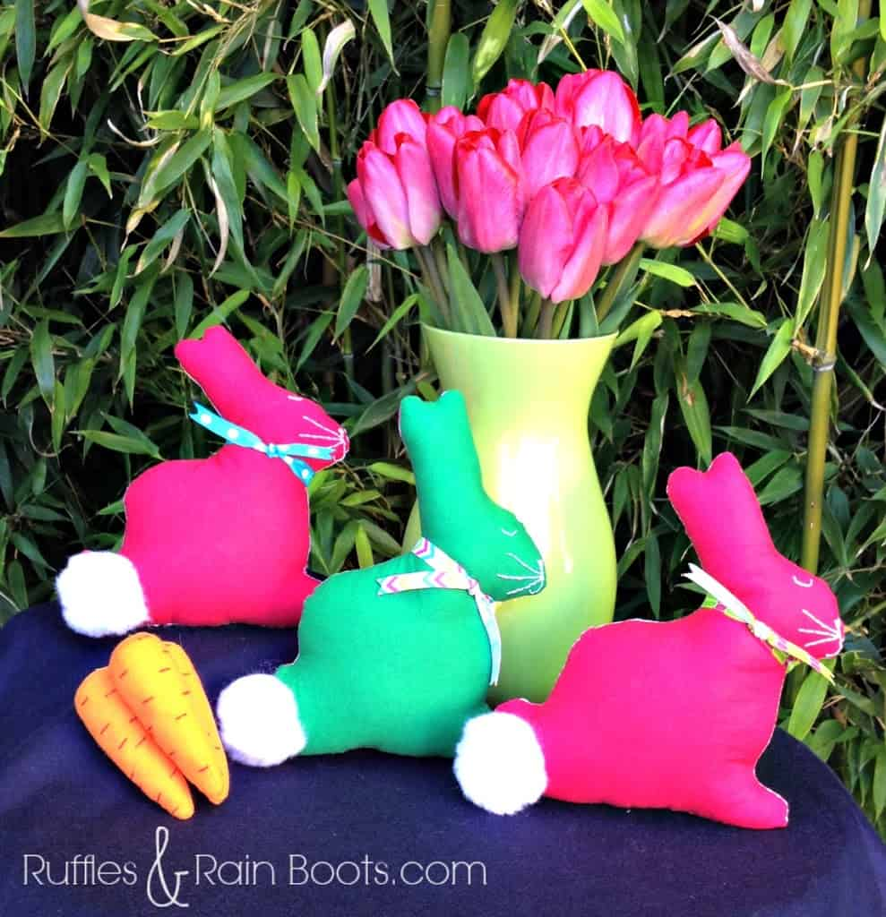Easter crafts from ruffles and rain boots easter crafts for adults and kids easter bunny softies mightylinksfo