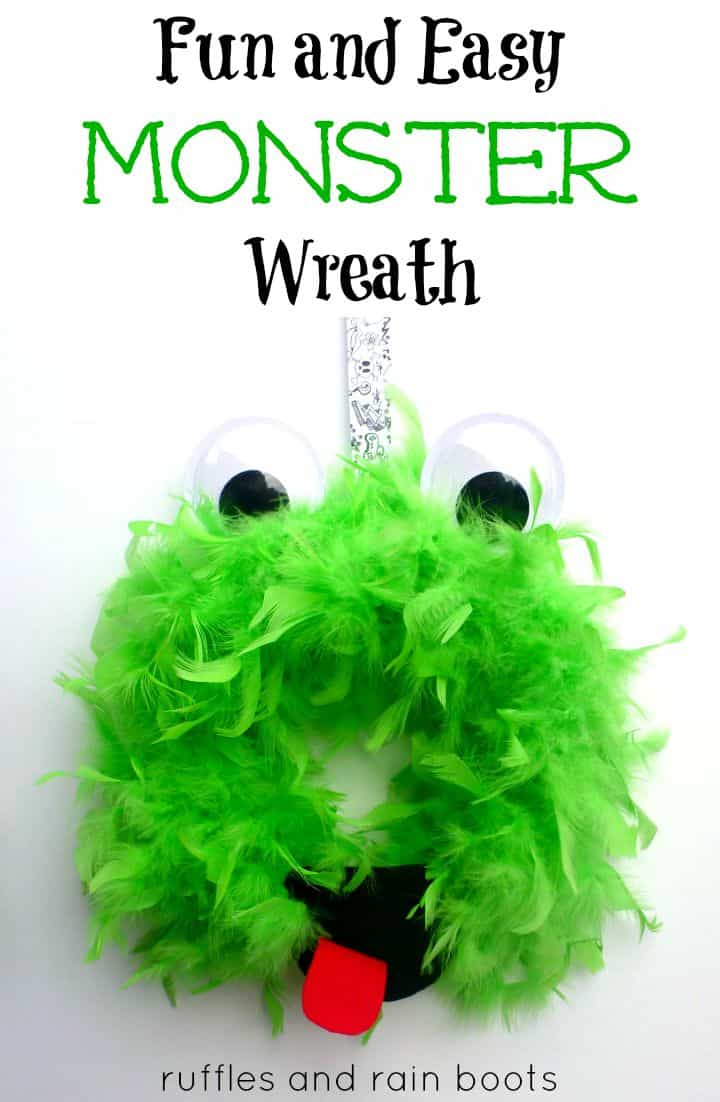 Fun and Easy Monster Wreath