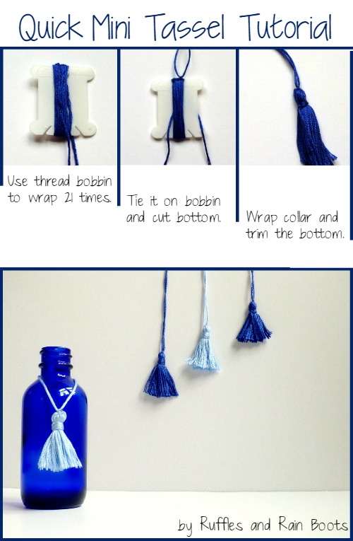 Tassel Tutorial by Ruffles and Rain Boots