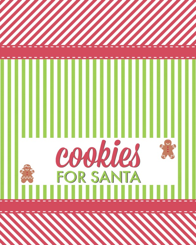 Cookies For Santa Printable | Ruffles and Rain Boots