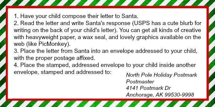 Letter to santa printable ruffles and rain boots important all letters must be received no later than december 15th 2014 the postmaster will open your envelope remove your childs letter in its own spiritdancerdesigns Images