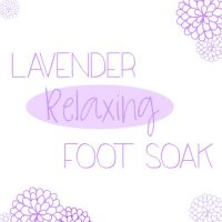 Lavender Relaxing Foot Soak with OVAL 500sq