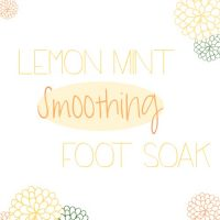 Lemon Mint Smoothing Foot Soak with OVAL 500sq