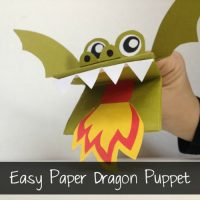 Easy Paper Dragon Puppet