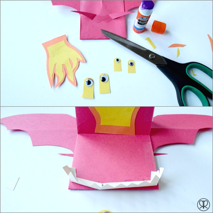 Kids Craft Dragon Puppet