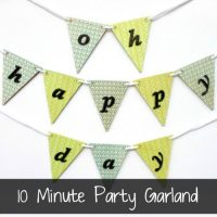10 minute party garland related