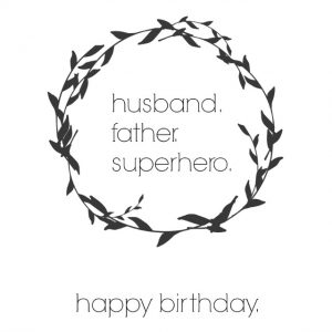 Printable Birthday Cards for Husbands