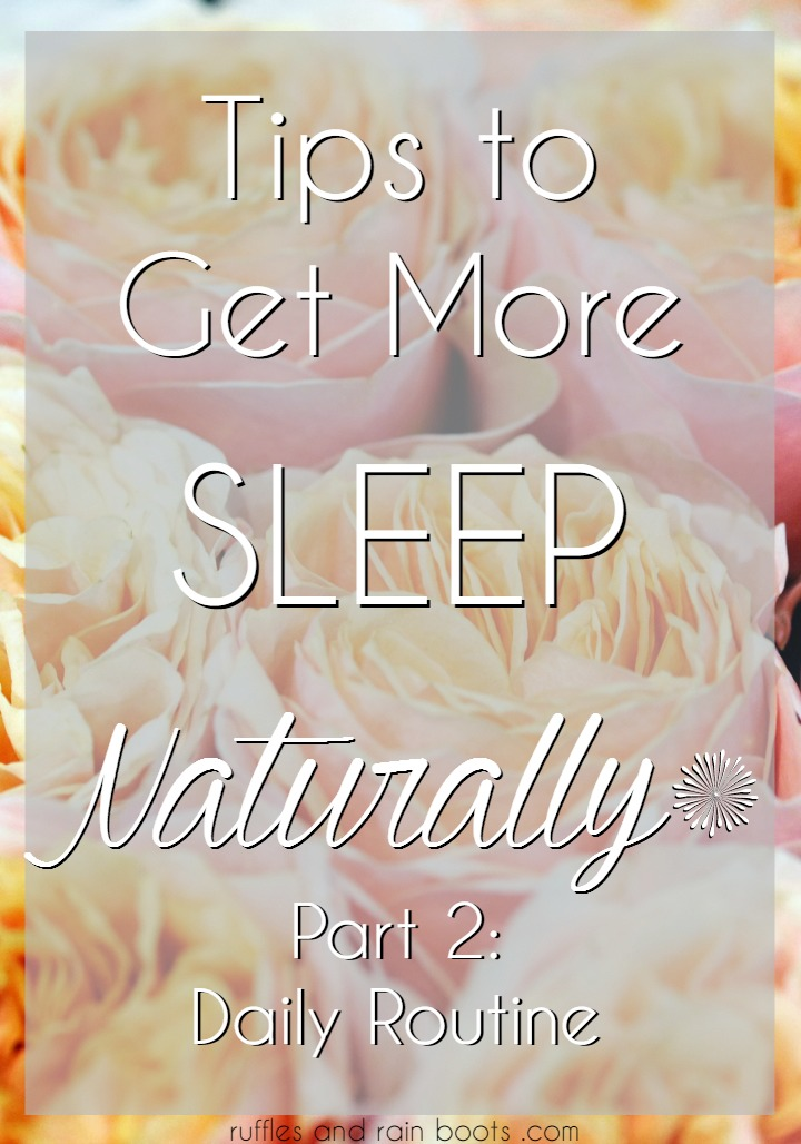 Tips to Get More Sleep Naturally Part 2