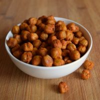 Easy Spicy Roasted Chickpeas