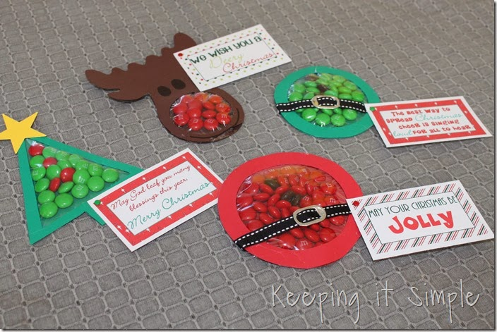 Christmas Candy Craft Pouches _Keeping it Simple