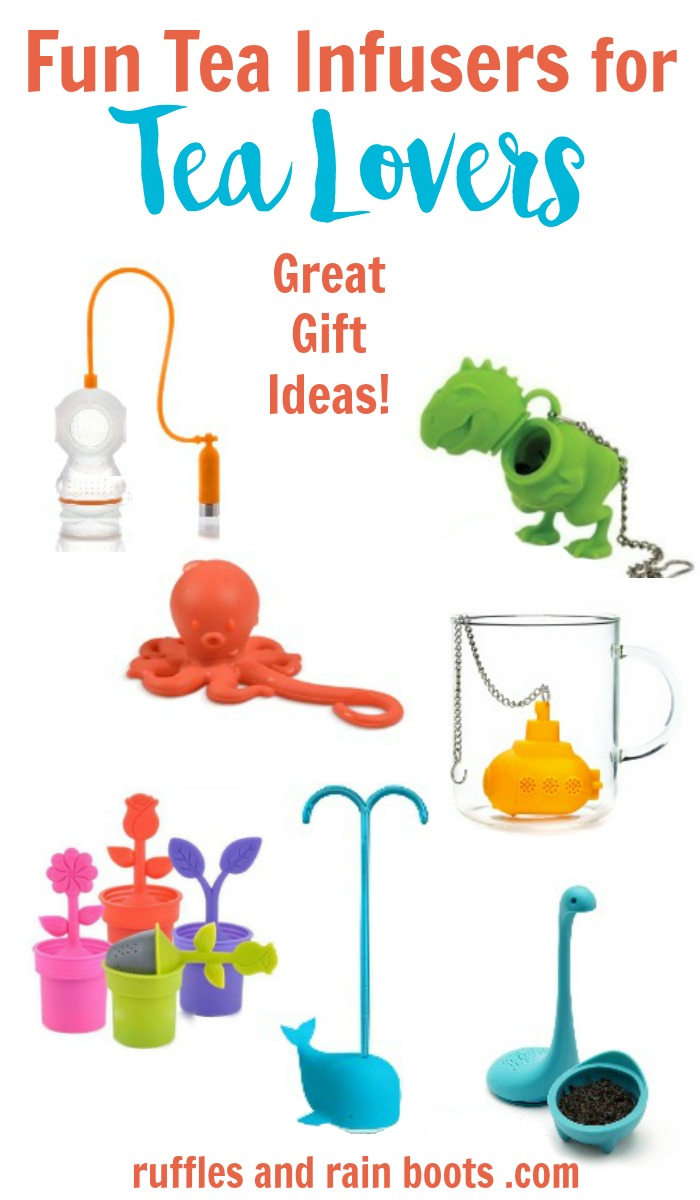 Tea infusers are a great gift idea for loose tea lovers. Click through to see more (and more gift ideas)!