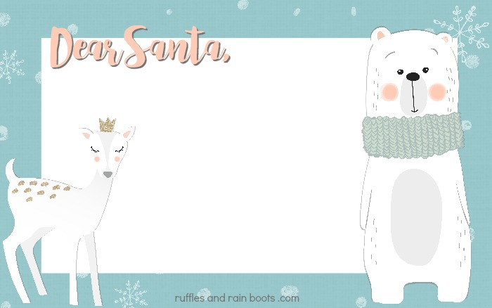 Get this Letter to Santa free printable to add a little premade magic for the holiday season!