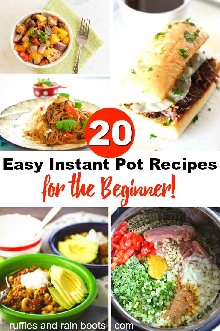 20 Easy Instant Pot Recipes for Beginners: from cheesecake to chili mac and cheese!