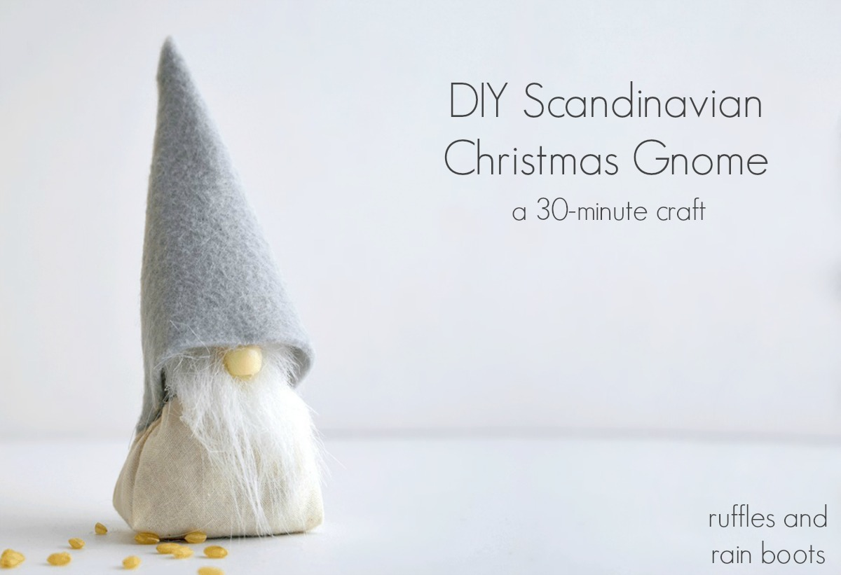 DIY Scandinavian Christmas Gnome Holiday Craft Project