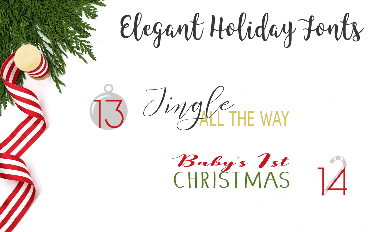 Free Christmas Fonts for Holiday Photo Books