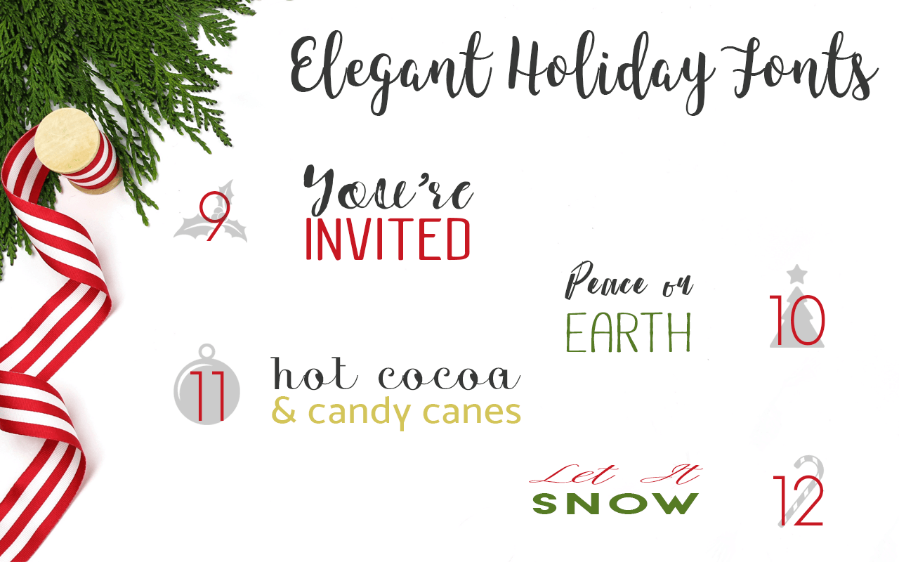 Free Christmas Fonts for Holiday Printables