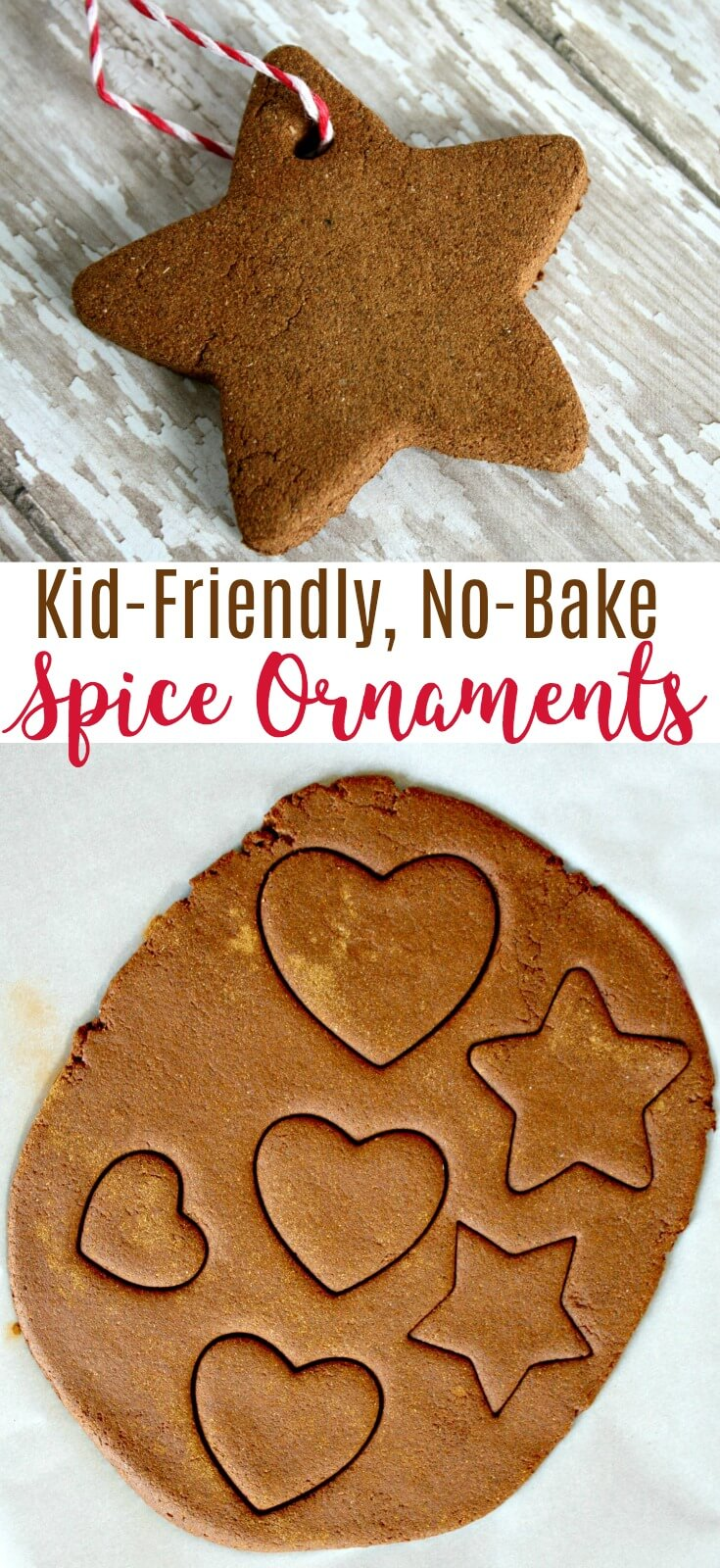 This no bake cinnamon DIY spice ornament recipe will wow the kids and have your house smelling amazing from fall through the holiday season