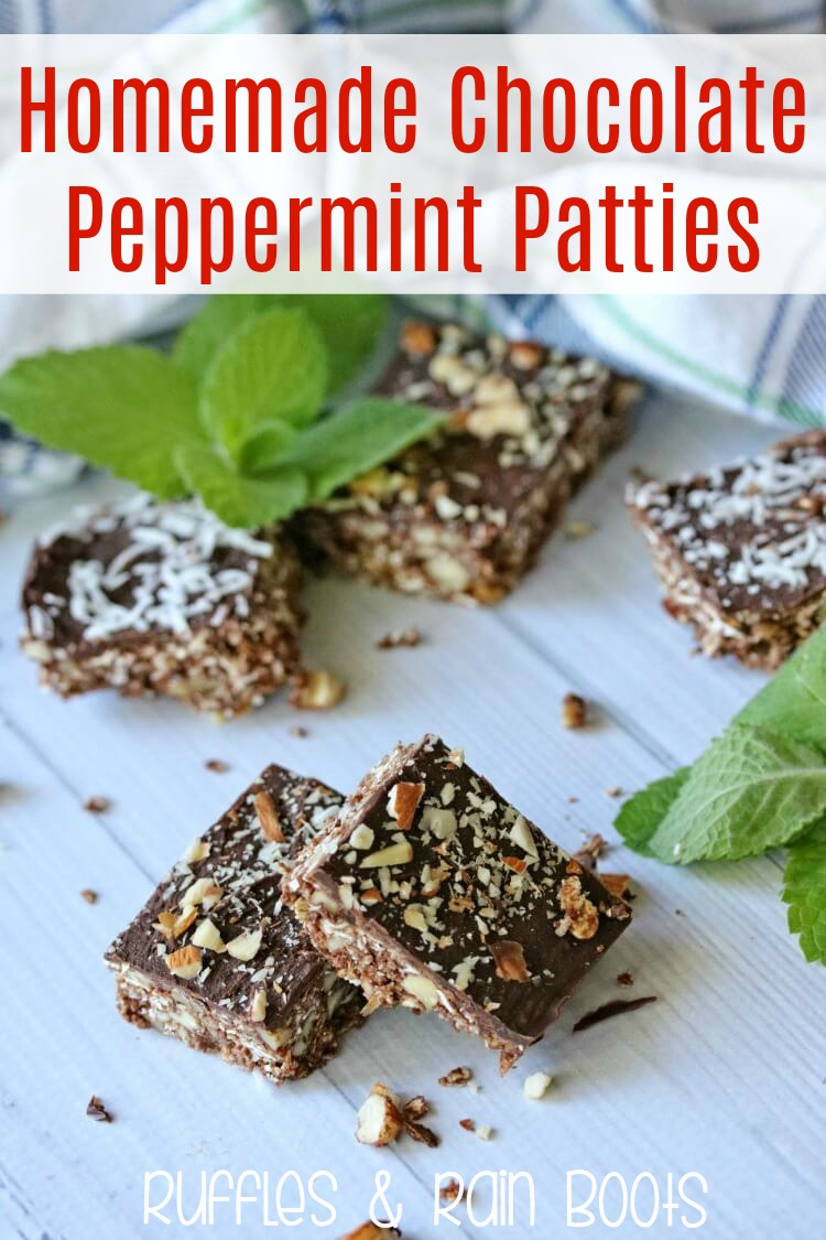 Homemade Chocolate Peppermint Patties Recipe for Christmas Cookie Platters and Gifting #christmas #cookies #peppermint #cookieplatter #DIYholiday