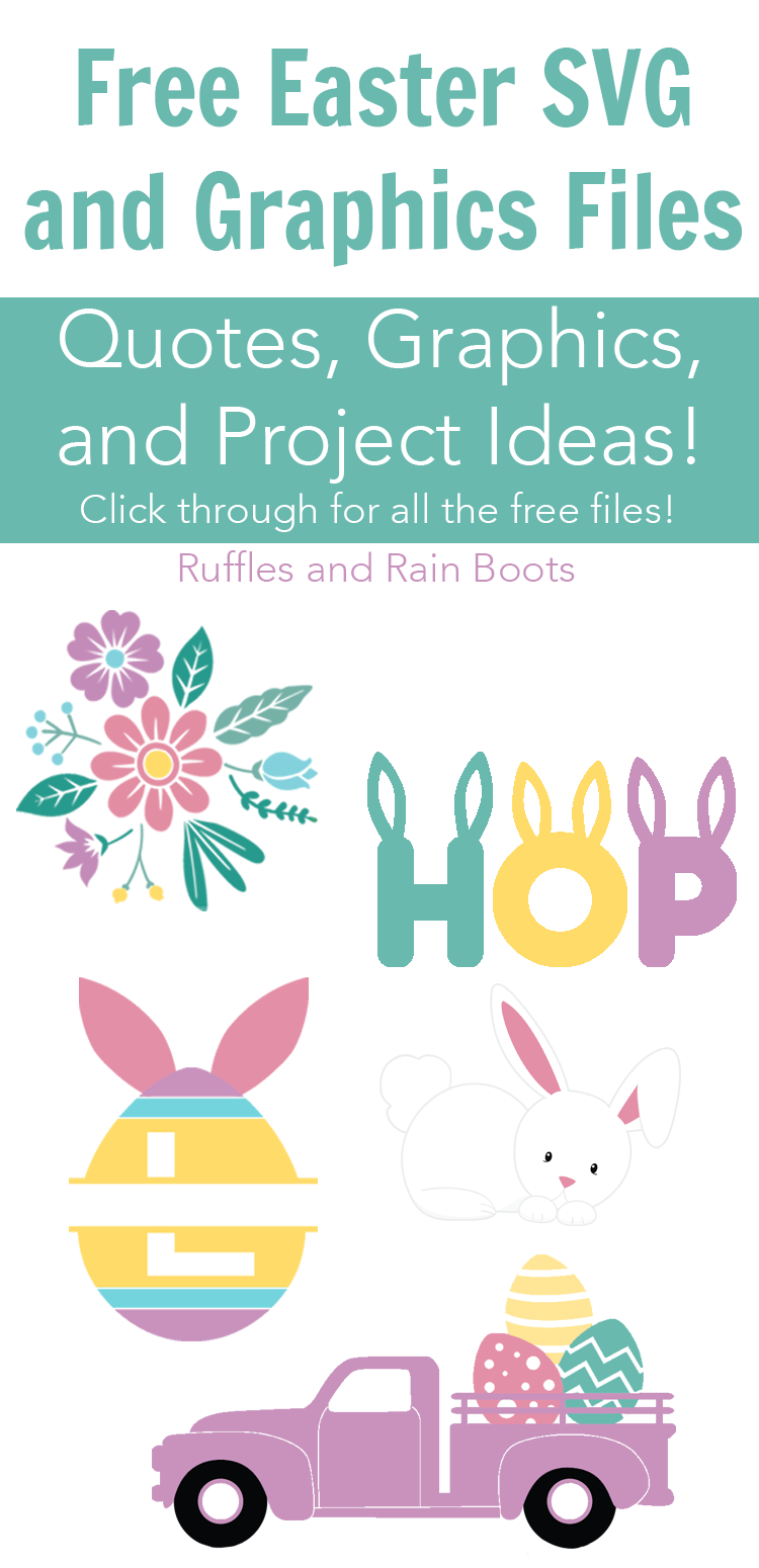 These free Easter SVG and graphics files will have your crafting game on point! From fonts to PNGs, quotes to SVGs, this Easter graphics collection has you covered (even if you're on a budget)! #digitalcraft #cricut #cutfiles #SVG #PNG #freeEaster #Easter