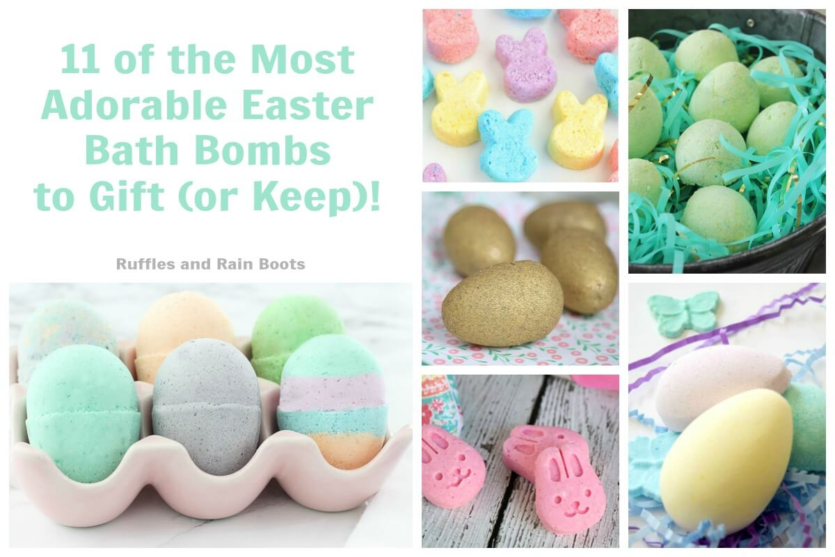Non Candy Easter Basket Ideas for Teens and Tweens DIY Bath Bombs