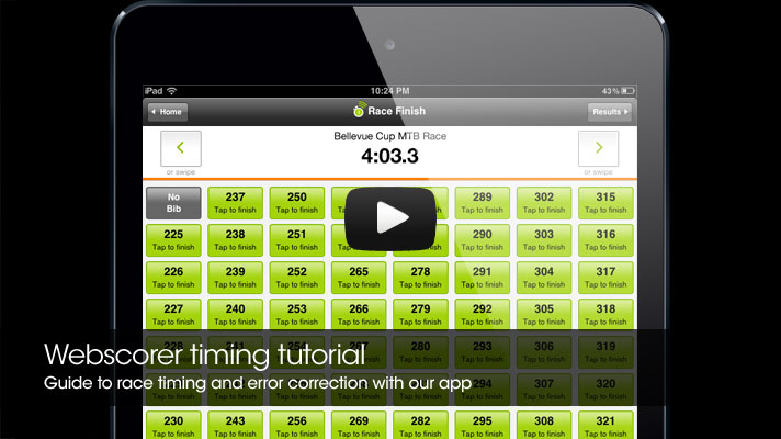 Webscorer timing tutorial video