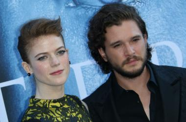 "Actress Rose Leslie and Kit Harington at the Los Angeles Premiere for The Seventh Season Of HBO's ""Game Of Thrones"""