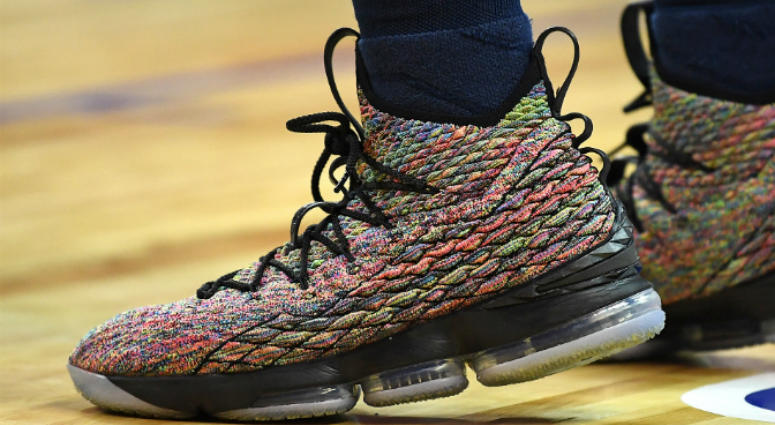 The sneakers of Memphis Grizzlies center Deonta Davis (21) are pictured during a game against the Philadelphia 76ers at Thomas & Mack Center.