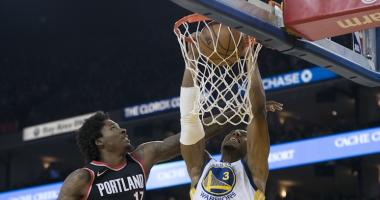 Shorthanded Warriors take care of the Blazers in return to Oracle