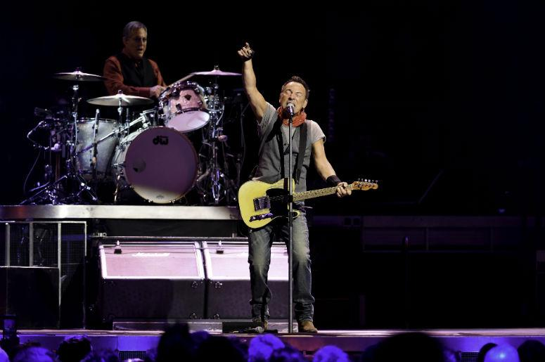 Bruce Springsteen performs onstage