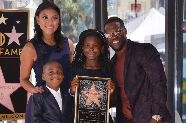 Eniko Parrish, Hendrix Hart, Heaven Hart and Kevin Hart at the Kevin Hart Star On The Hollywood Walk Of Fame Ceremony in front of DSW Shoes in Hollywood, CA on Monday, October 10, 2016.