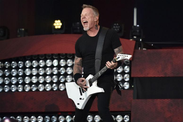 Lead vocalist James Hetfield of Metallica performs at the 2016 Global Citizen Festival held in New City's Central Park in New York, NY, on September 24, 2016