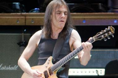 Rhythm guitarist Malcolm Young of AC/DC plays in front of 45,000 plus screaming fans at the Rogers Centre as part of their 2008/09 Black Ice World Tour.