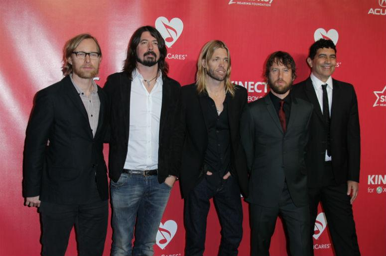 LOS ANGELES - FEB 10: Foo Fighters arrives at the 2012 MusiCares Gala honoring Paul McCartney at LA Convention Center on February 10, 2012 in Los Angeles, CA
