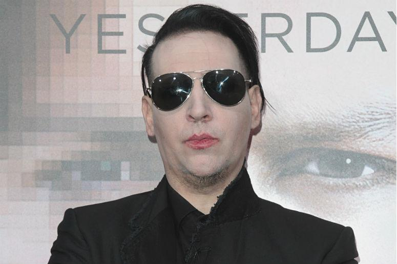 "Marilyn Manson attends The Los Angeles Premiere of ""Transcendance"" at the Regency Village Theater"