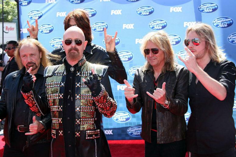 Judas Priest arrives to the finale of 2011 'American Idol' in Los Angeles, California.