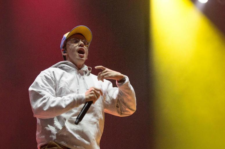 Recording artist Logic aka Sir Robert Bryson Hall II performs at the Okeechobee Music Festival.