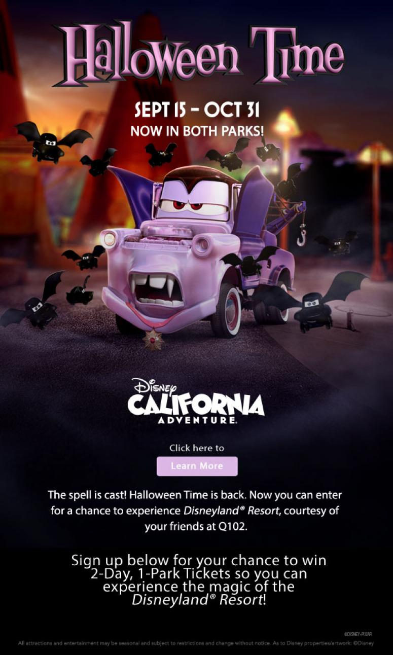 Q102 Is Giving You A Chance To Win Tickets To The Disneyland ...