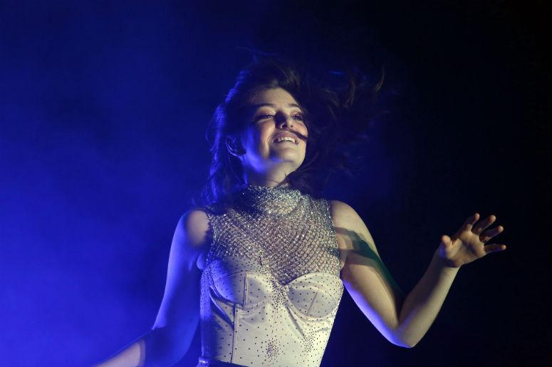 Lorde performs on Coachella Stage during the Coachella Valley Music and Arts Festival at Empire Polo Club.