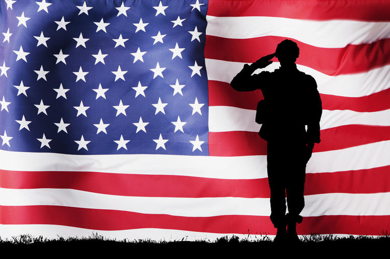 salute to service, flag, american