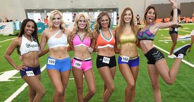 Miami Dolphins Cheerleader Tryouts Photos