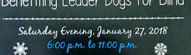 Fundraiser to Benefit Leader Dogs for the Blind